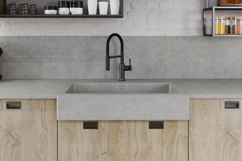 Kitchen Sink Design Blanco Concrete sink