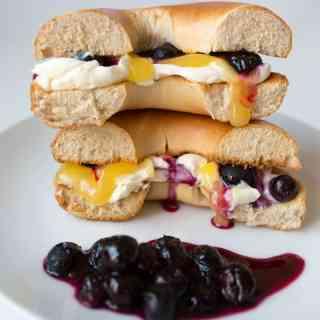 5 Days of Sweet Toasties – Day 3: Blueberry Lemon Cheesecake Bagel