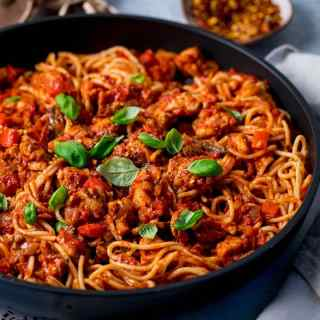 Chicken and Red Pepper Pasta