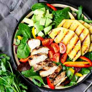 Hawaiian Chicken Salad with Coriander-Lime Vinaigrette