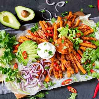 Loaded Mexican-Style Carrot Fries