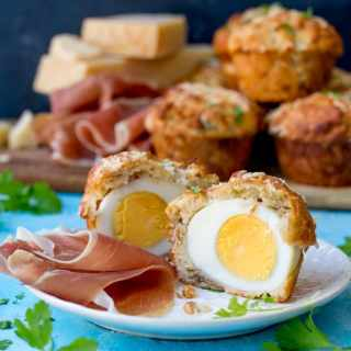 Grana Padano and Egg Stuffed Muffins With Prosciutto di San Daniele.