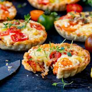 Cheese and Tomato Tarts (Not Quiche!!)