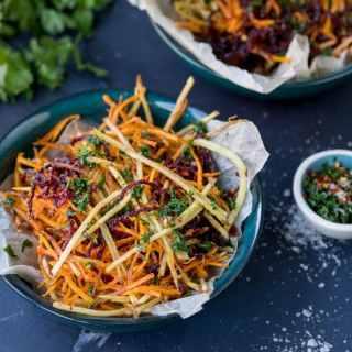 Vegetable Matchstick Fries with Homemade Herb Salt
