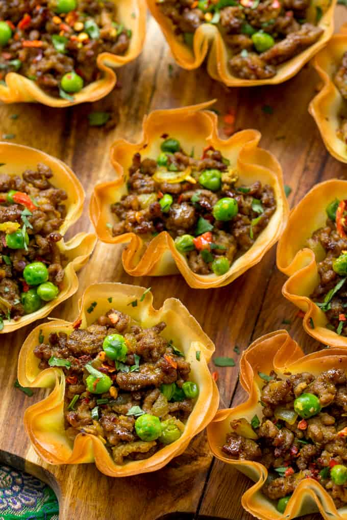 Spicy Lamb Samosa Cups - Nicky's Kitchen Sanctuary