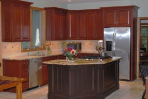 Cabinet Refacing Takes a Tewksbury, NJ Kitchen From Rustic ...