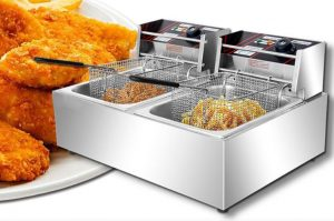 Dual tank deep fryer