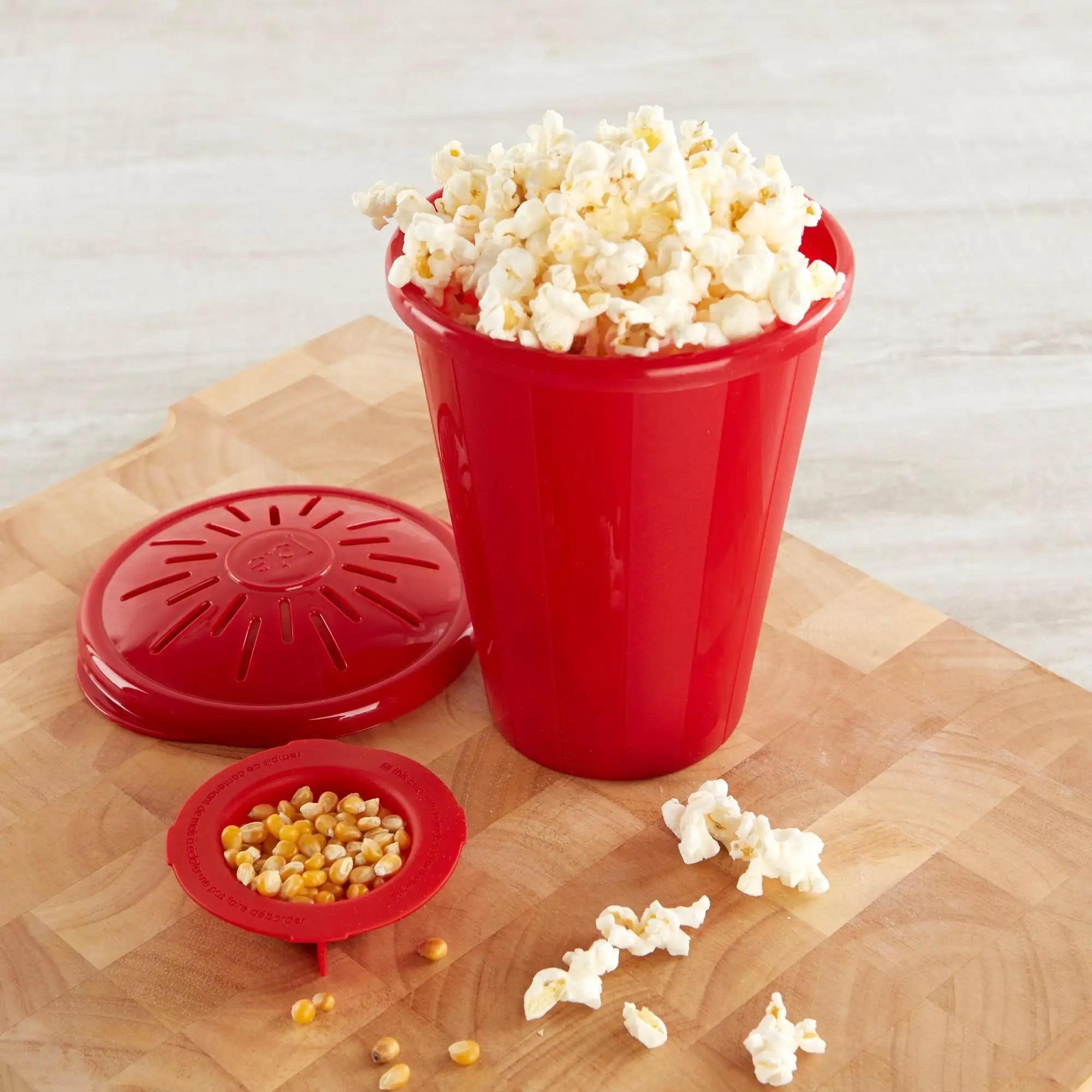 joie microwave popcorn maker red