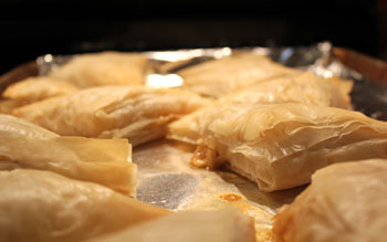 honey red curry apple turnovers