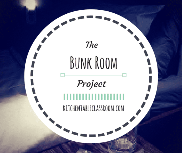 The Bunk Room Project ~The idea of a tiny corner of space devoted purely to extra beds seemed genius to me. The bunk room would be in the basement so it is as far away from my littles bedroom upstairs as possible, helpful for letting them get their sleep. There would be no beds to be deflated, rolled up, rolled under, or shoved out of sight.