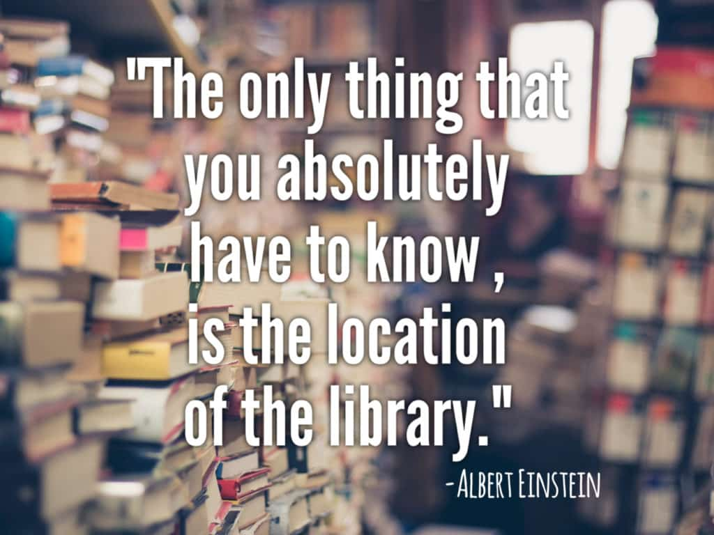 Image result for the only thing you absolutely have to know is the location of the library