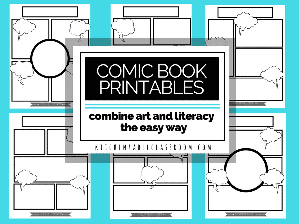 Comic Book Templates In Homeschool Writing