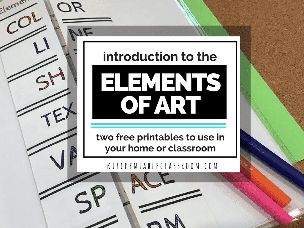 The Elements Of Art Printables