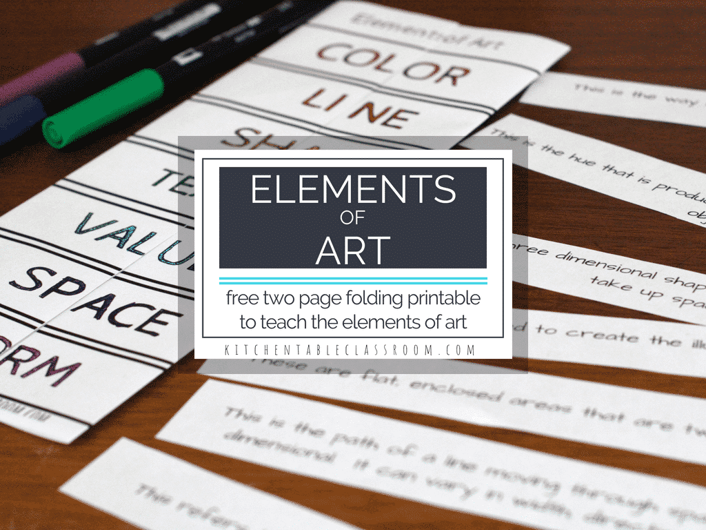 Elements Of Art Definitions Amp Free Printable Resources
