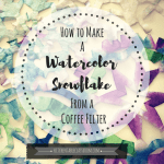How to Make a Watercolor Snowflake from a Coffee Filter