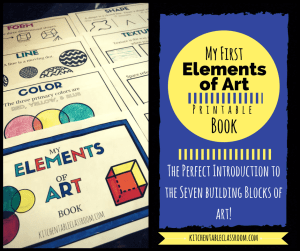 A printable book to introduce the elements of art for the elementary crowd.