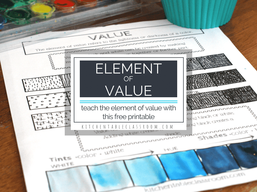 The Element Of Value In Art An Intro And Free Printable