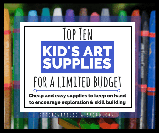 The thing about teaching art at home is you don't need to be an expert.  Here are some cheap and easy art supplies to encourage exploration and skill!