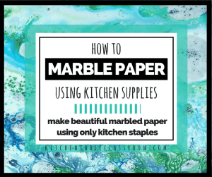 Basic supplies from your kitchen will get you this pretty marbled paper!
