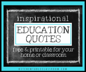 Check out these twelve free printable quotes about education!
