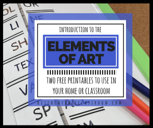 Get your complete elements of art resources here!