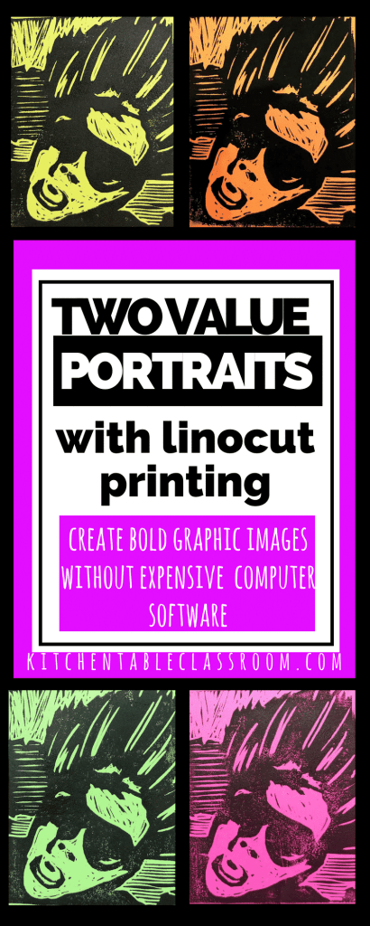 Learn how to reduce a photo to two values using only free technology to create this awesome linocut portrait printmaking project!