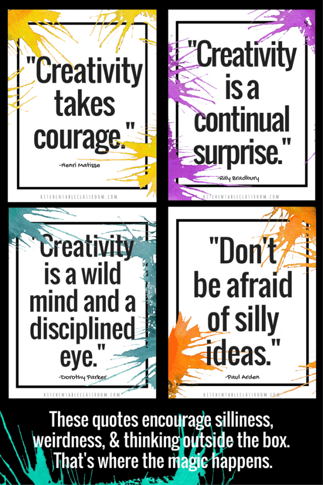 Creative thinking is a mindset that changes the way we see the world and view everyday problems. Use these free creativity quotes to inspire your people!