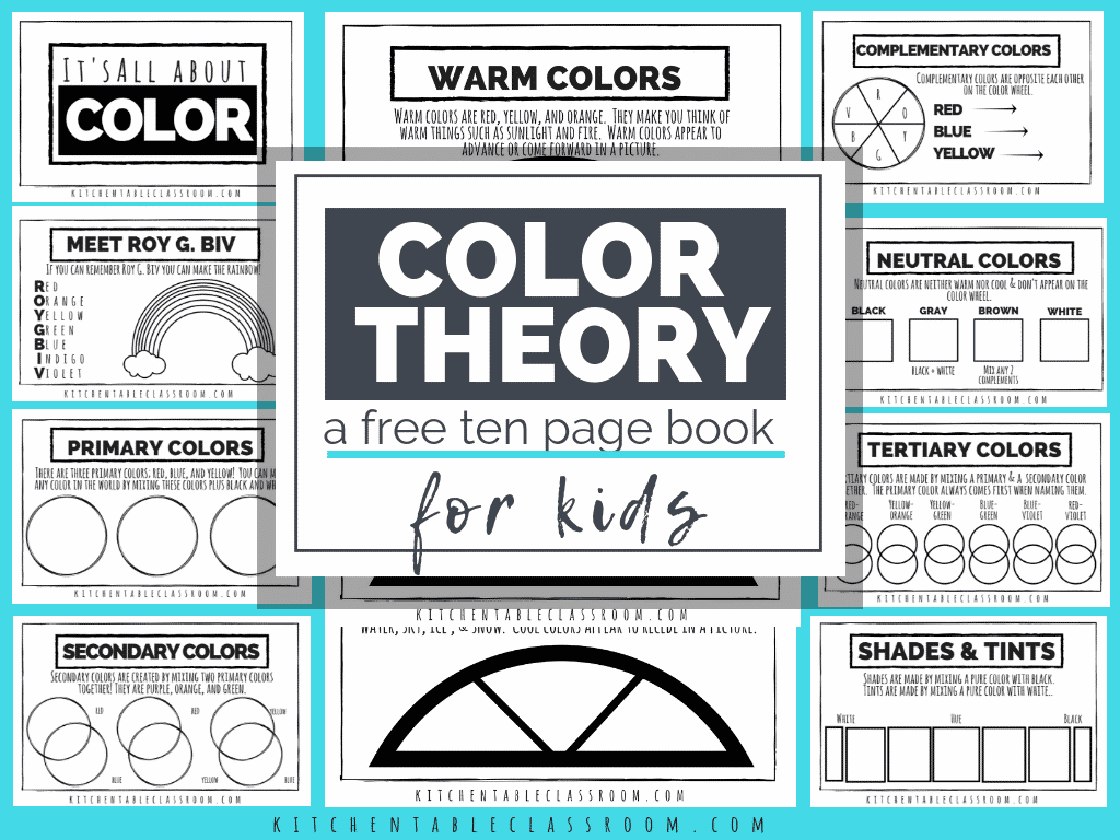 Color Theory For Kids A Free Printable Book