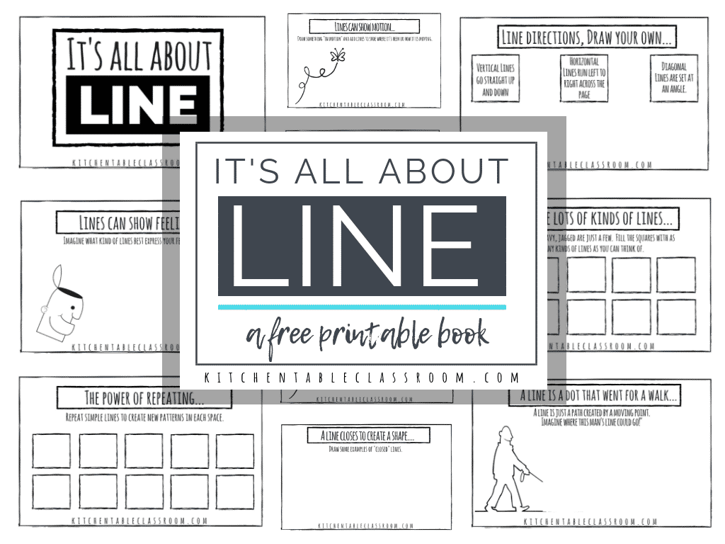Learning About The Element Of Line Free Printable Book