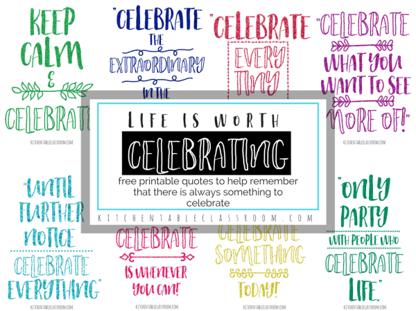 Quotes about Celebration- How to Celebrate Every Day, Even ...