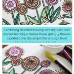 Draw A Flower A Directed Drawing Exercise Video Lesson The Kitchen Table Classroom