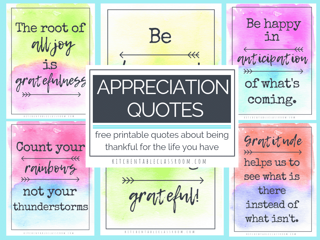Appreciation Quotes Quotes About Being Thankful For The