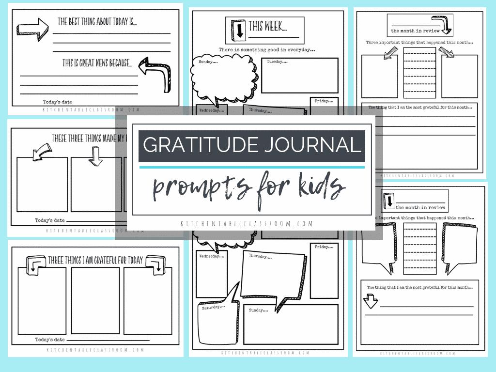 Gratitude Journal Prompts Free Printable Gratitude Journal Templates