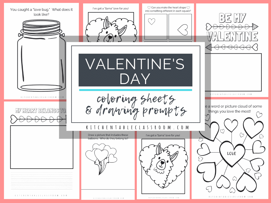 Valentine S Day Coloring Pages And Sketchbook Prompts