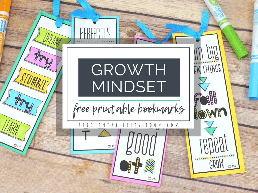 Growth Mindset Bookmarks Print And Color