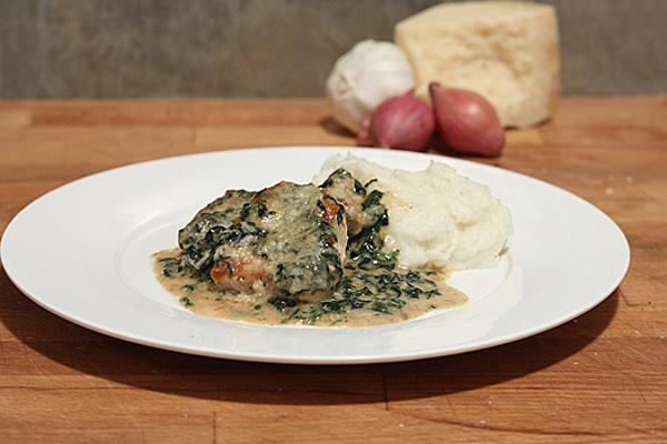 pork florentine casserole pork and creamed spinach