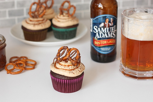 Beer infused cupcakes