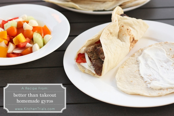 Pita Recipe for better than takeout homemade gyros