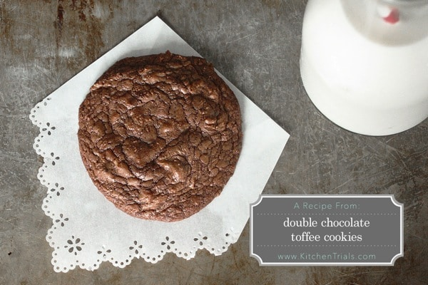 Double chocolate toffee cookies s