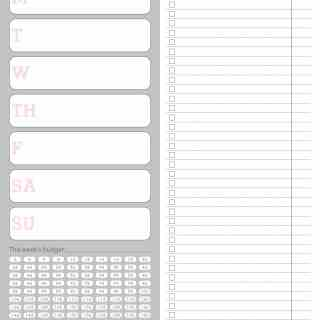 Grocery Shopping List with budget, coupons, and menu planning