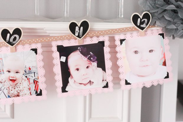 vintage pink party photo banner 3