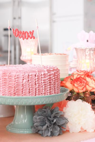 vintage pink party table 6