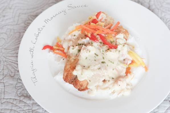 tilapia with lobster mornay sauce