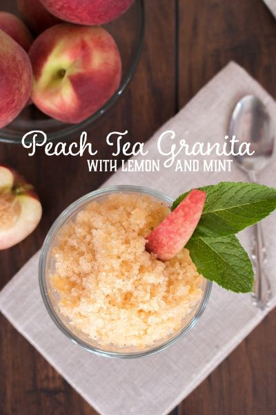 peach tea granita #TEAdays