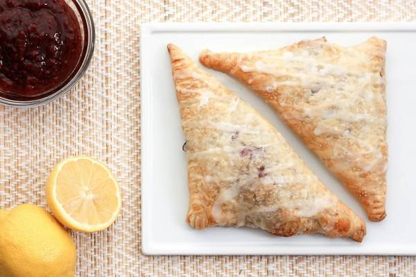 5 minute raspberry turnovers