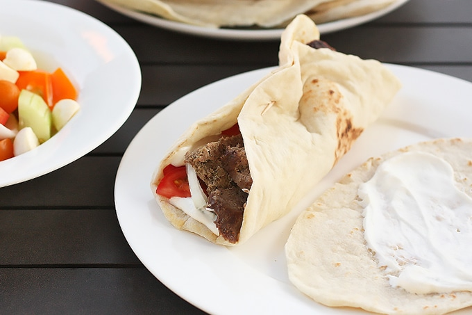 Homemade gyros you can do on the grill - just as good as any takeout, and you can enjoy them on your own patio. One of my top five BBQ recipes