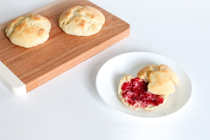 The perfect southern style biscuit! They're light and fluffy inside, delicately crisp outside, and have just the right hit of salt. You'll never try another recipe!