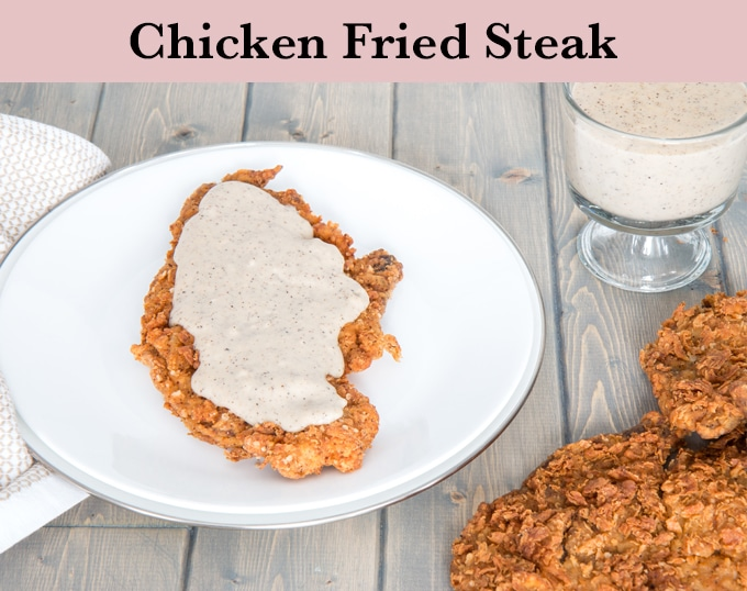 Chicken fried steak that's crispy, tender, and full of flavour is possible at home! I spent two years perfecting this recipe, and it was worth every single step (and there were a lot of them) to finally get to this delicious, finger licking good perfection!