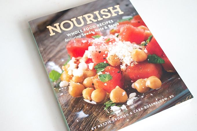Nourish is a new cookbook of whole food recipes featuring seeds, nuts, and beans by Nettie Cronish & Cara Rosenbloom, RD, and it's quickly becoming a favourite in my house.