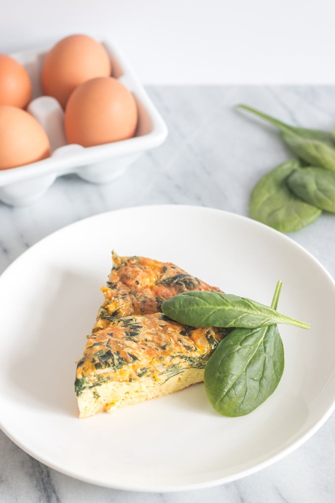 A moist and tender quiche that is full of flavour without all those added carbs. My crustless spinach quiche is proof that eating well doesn't mean you have to sacrifice anything. Great, satisfying meal for a low-carb diet!